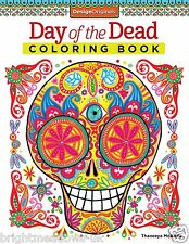 Day of the Dead Adult Colouring Book Calm Relaxing Art Therapy Anti Stress Zen