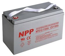 NPP NPD12-110Ah Deep Cycle 12V 110Ah  Battery for 1000W Pure Sine Power Inverter
