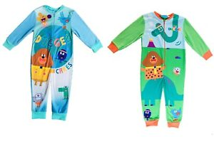 Girls Boys Hey Duggee 1Onesie One Piece Pyjama Fleece Warm Comfortable 1 - 5 Yr