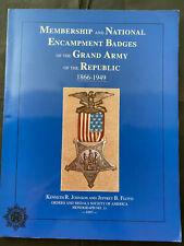 MEMBERSHIP & NATIONAL ENCAMPMENT BADGES GRAND ARMY REPUBLIC 1866-1949, 79pgs