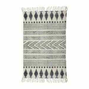 Printed by Hand Grey Black Rug by House Doctor 60x200 cm