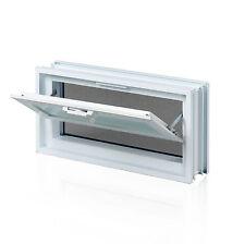 Lüftungsfenster mit Fliegengitter 579x189mm statt 3 Glassteine 19x19cm waagerecht