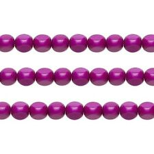 Wood Rounded Triangle Beads Dark Purple 10x10x10mm 16 Inch Strand