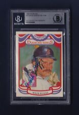 Wade Boggs signed 1984 Donruss Diamond King baseball card Beckett Authenticated