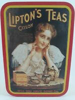 "Vintage Lipton's Teas Ceylon LIPTON TEA ""RARE"" COLLECTIBLE TIN BOX"