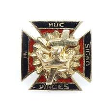 Knights Templar Vintage Screwback Lapel Pin 14K Karat Gold