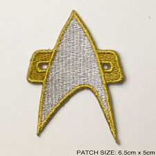 """STAR TREK VOYAGER """"COMM BADGE"""" Deluxe Stylish Embroidered Patch!"""