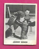 RARE 1965-66 COCA COLA LEAFS JOHNNY BOWER GOALIE CARD (INV# C8203)
