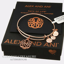 Authentic Alex and Ani Path Of Life (iv) Rose Gold Charm Bangle