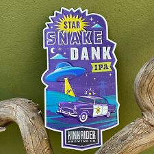 Kinkaider Brewing Co Star Snake Dank Ipa Tin Tacker Metal Beer Sign