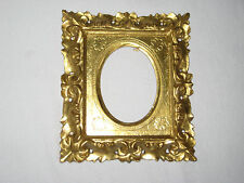"""GILT GESSO WOOD FLORENTINE PICTURE FRAME 6x5"""" ITALY PIC SIZE 3x2.25 OR 3.25 x 4"""