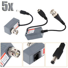 10pcs Cctv Coax Bnc Video Power Balun Transceiver to Cat5e Cat6 Rj45 Connector