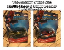 The Amazing Spider-Man Reptile Racer & Spider Booster 1:64 Diecast Cars 2x Cars