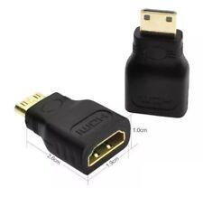 Placcato oro HDMI a MINI HDMI Donna Maschio Adattatore Convertitore da Changer