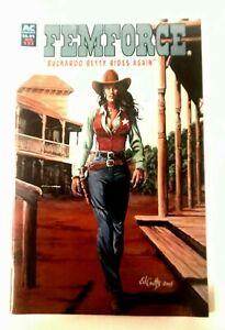 FEMFORCE  #132 AC COMICS BUCKAROO BETTY GOOD GIRL WESTERN HTF LOW PRINT RUN