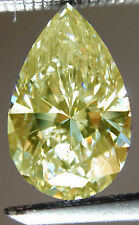 1.15ct VVS1/8.43mm WHITE YELLOW COLOR LOOSE PEAR REAL MOISSANITE 4 Ring/Pendant