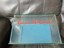 Antique Good N Crisp Potato Chip Glass Counter Display Box KWIKSALE Blue Back