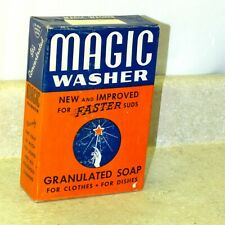 """Vintage """"Magic Washer"""" Box, Cleaner, Dishes, Clothes, 5.5"""" X 8"""""""