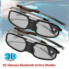 2X 3D Bluetooth Active Shutter Glasses LCD Clip on For TV Projector Samsung Sony