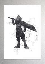 Conflictos en la nube-Efecto Final Fantasy Art-Splash-tamaño A4