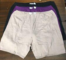 plus size COMFORT CHOICE 3 pack cotton BOXER panties briefs sz 11 colors /