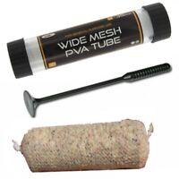 PVA Wide Mesh 7 Metres NGT Stocking & Plunger and Free Tube 35mm Carp Fishing