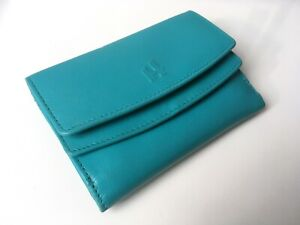 NEW - Genuine Leather Harness Turquoise Wallet Tri-fold Surf Small Ladies Purse