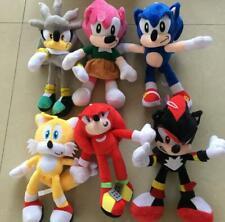 Sonic The Hedgehog Shadow Cartoon Plush Toys Soft Stuffed Dolls 6pcs Kids Gift