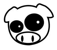 JDM pig, cerdo, honda, japan japon pegatina aufkleber vinilo, vinyl, 18 colours