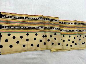 "Beautiful Polka Dot Men's  Scarf 100% Silk 49"" x 10"" Made in Italy"