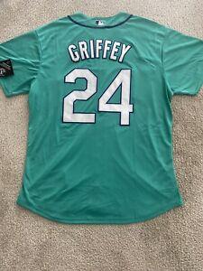 New Ken Griffey Jr. Jersey Mens M/L/XL Seattle Mariners Green #24