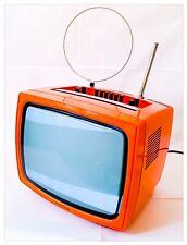 "TV Televisione Portatile Vintage TELEFUNKEN 1233 B/N 12"" 1973 FUNZIONANTE"