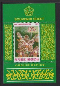 INDONESIA - 1979 ORCHID Flowers Series Souvenir Sheet / MINISHEET MNH