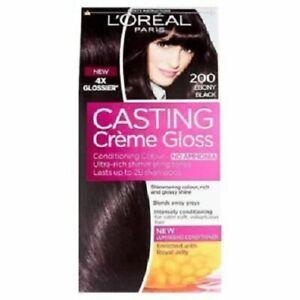 L'Oreal Paris Casting Creme Gloss Hair Color For Men & Woman  EBONY BLACK +SHIP