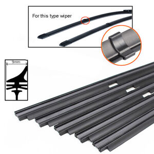 """2PCS 26"""" 8mm Car Auto Rubber Wiper Blade Refills For Wiper with Clips Cut Size"""