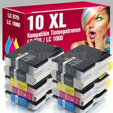 10 Druckerpatronen für Brother DCP 357 C LC970 LC1000