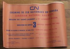 Canadian National - St Lawrence Region - 1978 - Employees' Operating Timetable