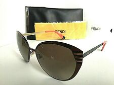 5140a0cd18e7 New FENDI FF 0017 S 7ROHA 58mm Silver Designer Women s Sunglasses Italy