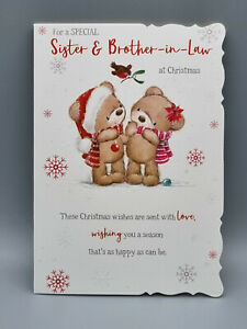Sister and Brother In Law Christmas Card, Xmas Card, Merry Christmas With Love