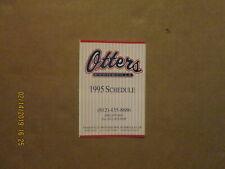 Frontier League Evansville Otters Vintage Circa 1995 Team Logo Pocket Schedule