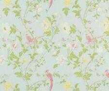 Laura Ashley Summer Palace Duck Egg Wallpaper Birds Floral Per Roll W097530-A/1