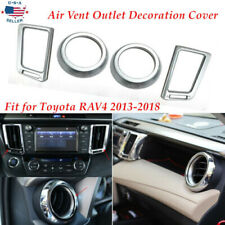 4PCS Fit For Toyota RAV4 2013-2018 Air Vent Outlet Decoration Cover Accessories