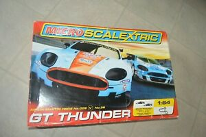 Circuit Micro Scalextric Gt Thunder Aston Martin DBR9 N°9 And N°36 Works