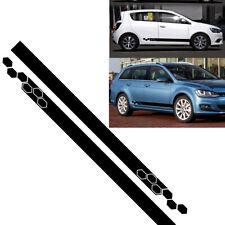 2PC Vinyl Stripes Graphics Stickers Car Van Decals Body Panel DIY Accessories