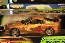 1:18 Ertl Fast Furious Paul Walker 1993 Toyota Supra Oro - Nuevo en Emb. Orig.