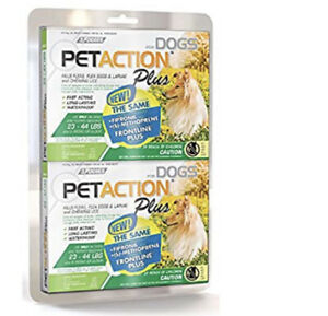 PetAction Plus For Dogs 8 Doses Treatments Medium 23-44 lbs SEALED 🔥🔥