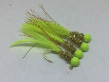 4 pack of hand tied 1/16 jigs - Crappie, Gills, Trout and Bass - #CGC-116