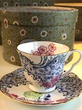 Wedgwood Butterfly Bloom Teetasse & Untertasse pink
