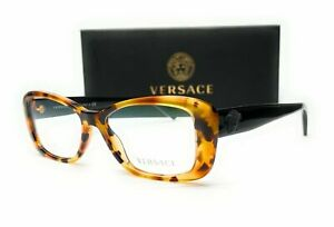 VERSACE VE3228 260 Light Havana Demo Lens Women's Eyeglasses 52 mm