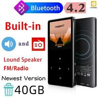 MP3 Player With Bluetooth 4.2 Portable Fm Radio Metal Body Hifi Music Touch